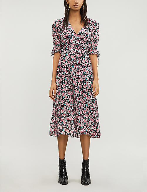 e604d07a96fb THE KOOPLES Floral flared-cuff silk-georgette dress
