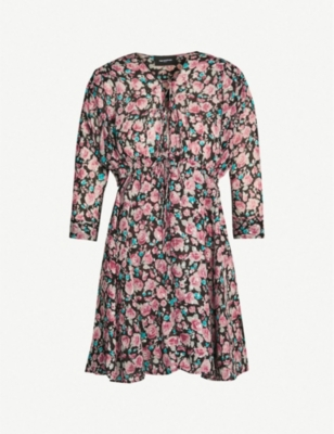 THE KOOPLES Floral flared silk-blend dress