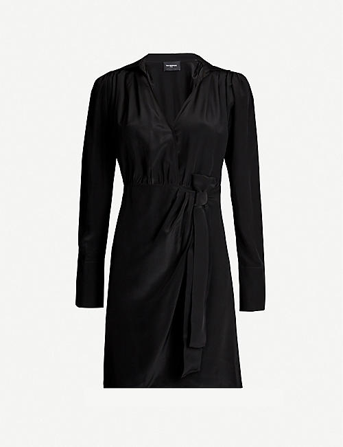 THE KOOPLES Waist-tie crepe wrap-over dress