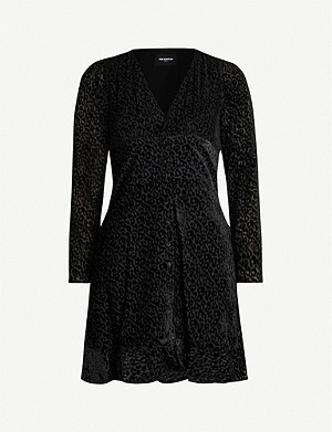 THE KOOPLES Leopard-print devoré mini dress