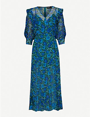 THE KOOPLES: Floral-print chiffon maxi dress