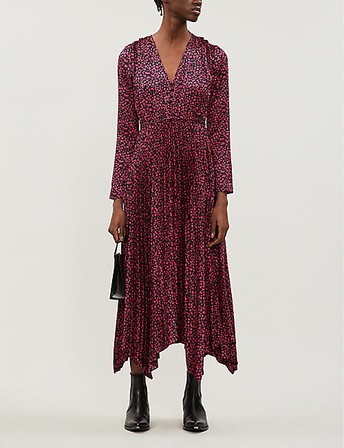 THE KOOPLES Ditsy-floral print twill midi dress