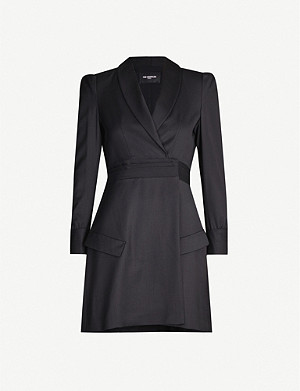 THE KOOPLES Blazer-style wool mini dress
