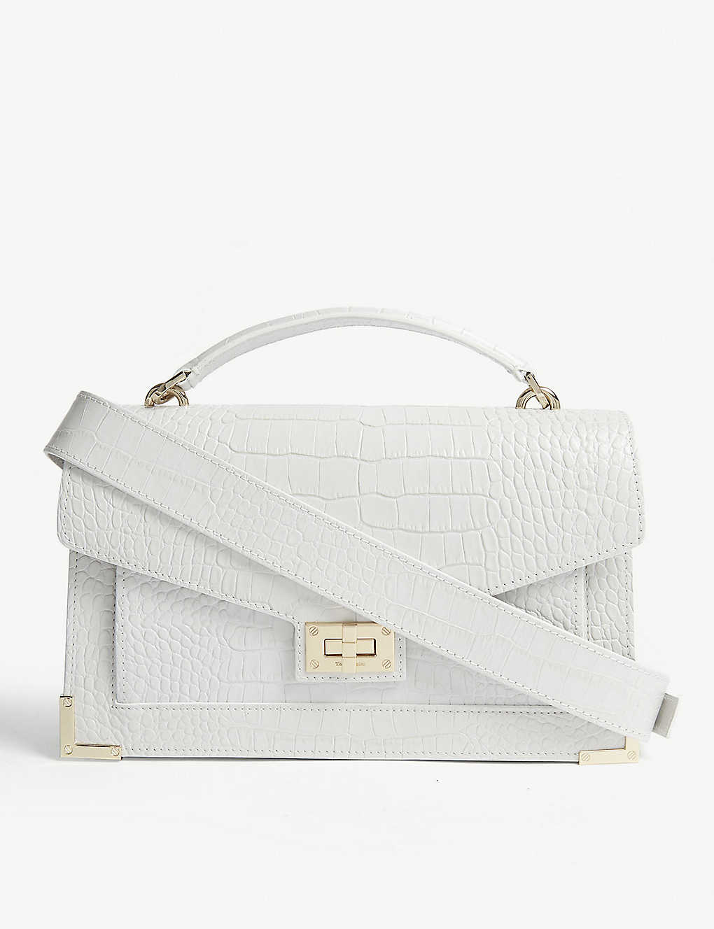 ecb58b8a7910 THE KOOPLES - Crocodile effect Emily medium bag