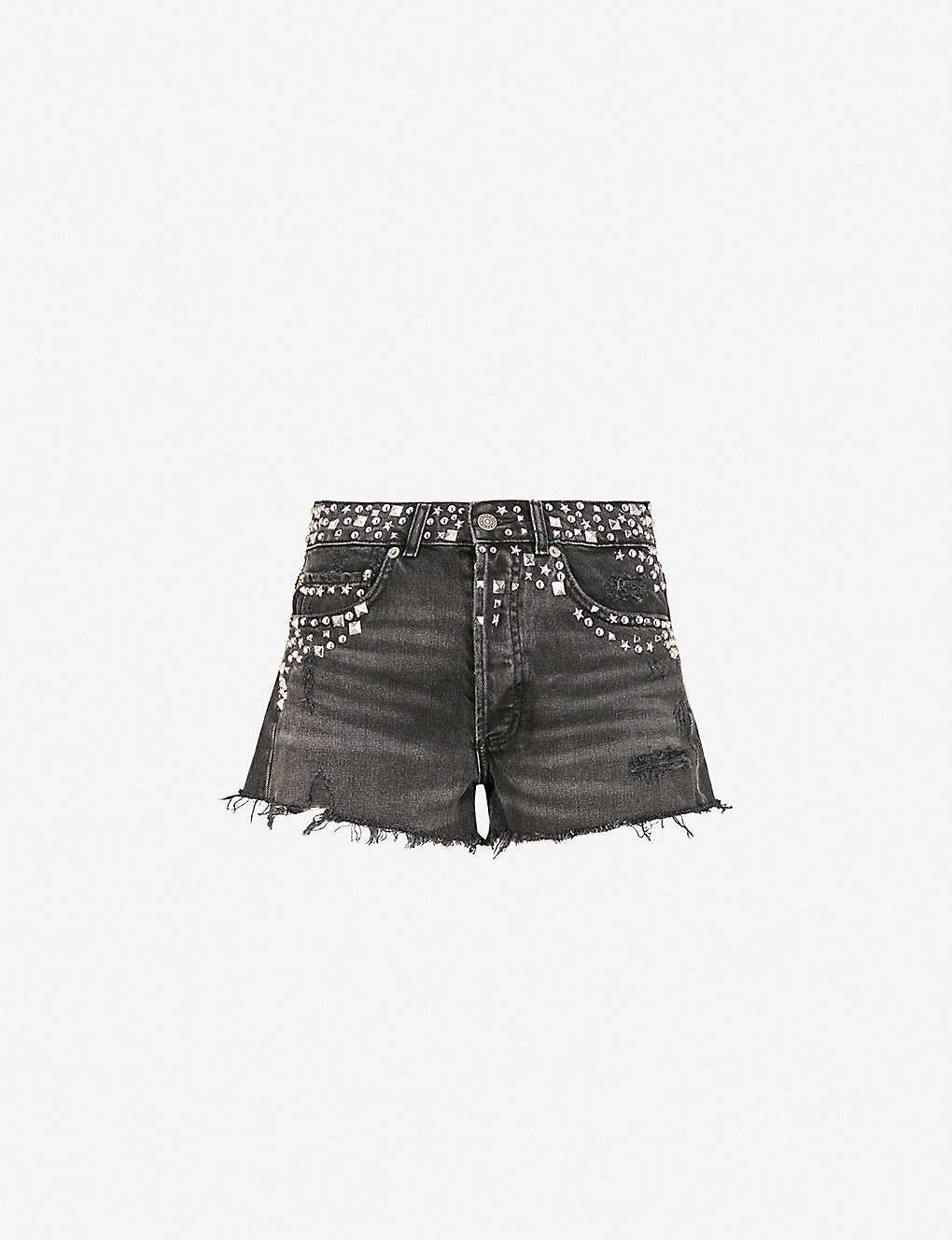 9bae40027b THE KOOPLES - High-rise studded denim shorts | Selfridges.com