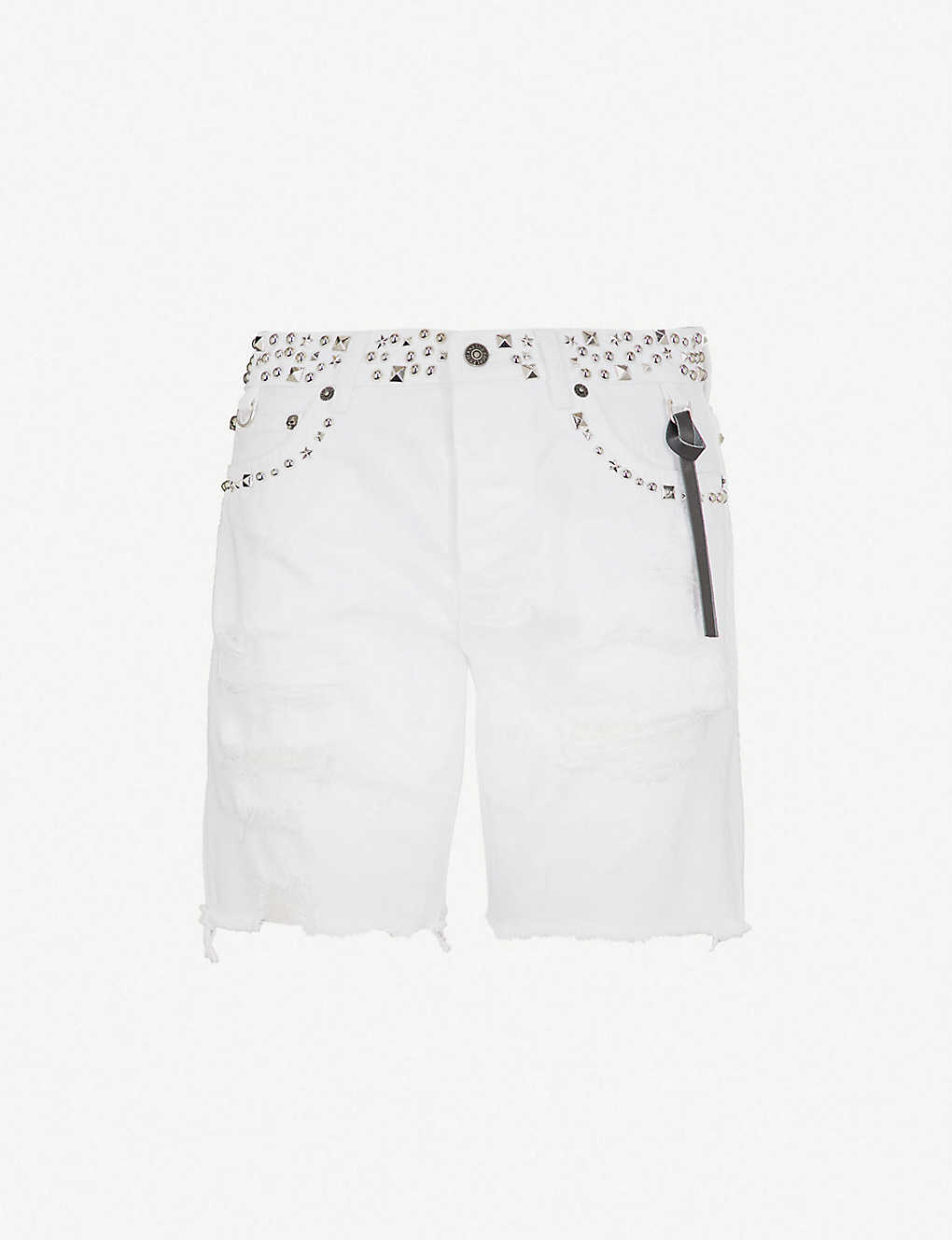 430da32878 THE KOOPLES - Washed denim shorts with ethnic embroide | Selfridges.com