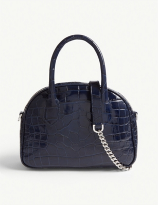 THE KOOPLES Irina reptile-effect leather shoulder bag