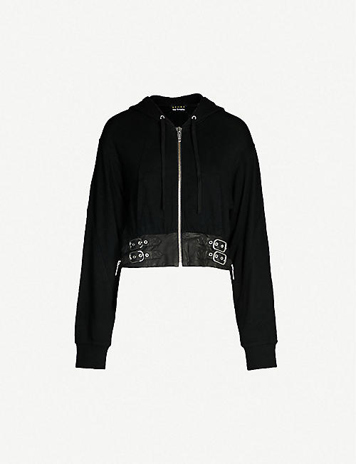 THE KOOPLES Buckled-waist cotton-blend jersey hoody. Quick view Wish list 0f0fa2b13