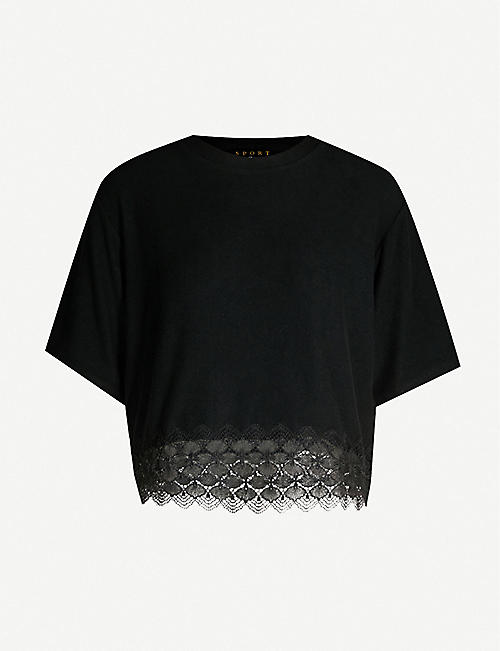 50f4a1c2b15 THE KOOPLES Lace-trimmed fleece top