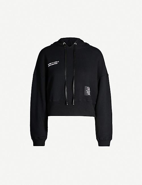 82b487f529b THE KOOPLES Cropped cotton-jersey hoody