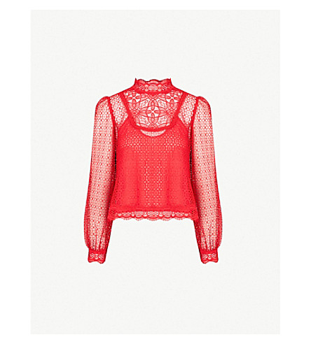 37cbd54bbb THE KOOPLES - Frilled neckline lace shirt | Selfridges.com