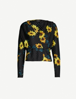 THE KOOPLES Sunflower polka dot jacquard blouse