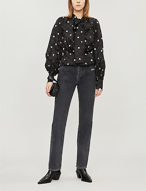 8f047035c9 THE KOOPLES Polka dot long-sleeved woven blouse