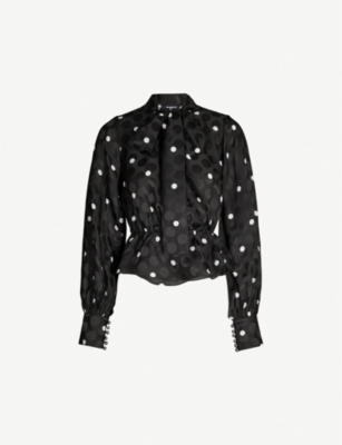 THE KOOPLES Polka dot long-sleeved woven blouse