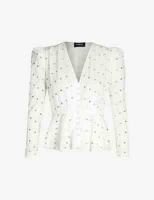 THE KOOPLES Studded cotton top