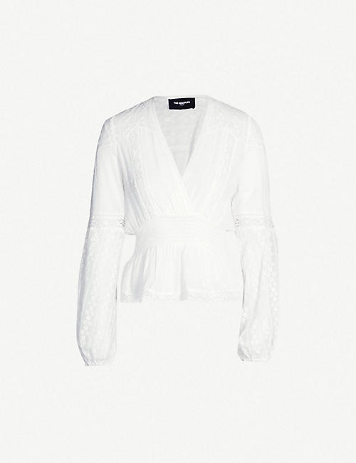 THE KOOPLES Deep V-neck lace blouse