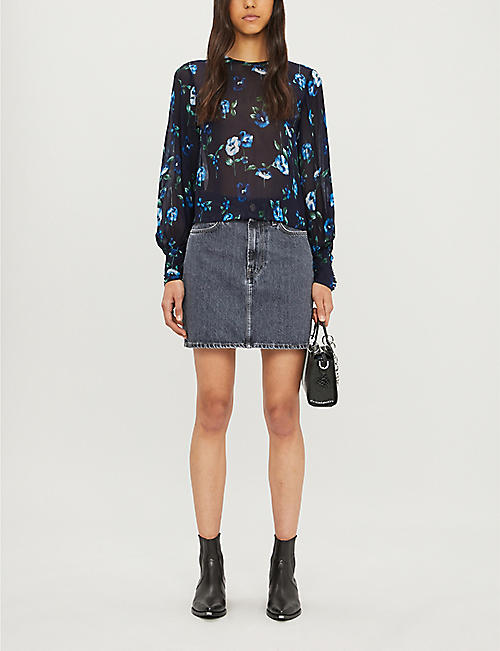 THE KOOPLES SPORT Floral-print crepe shirt