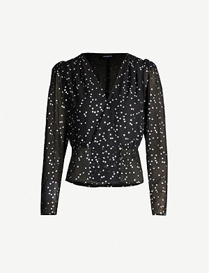 THE KOOPLES Star-print crepe blouse