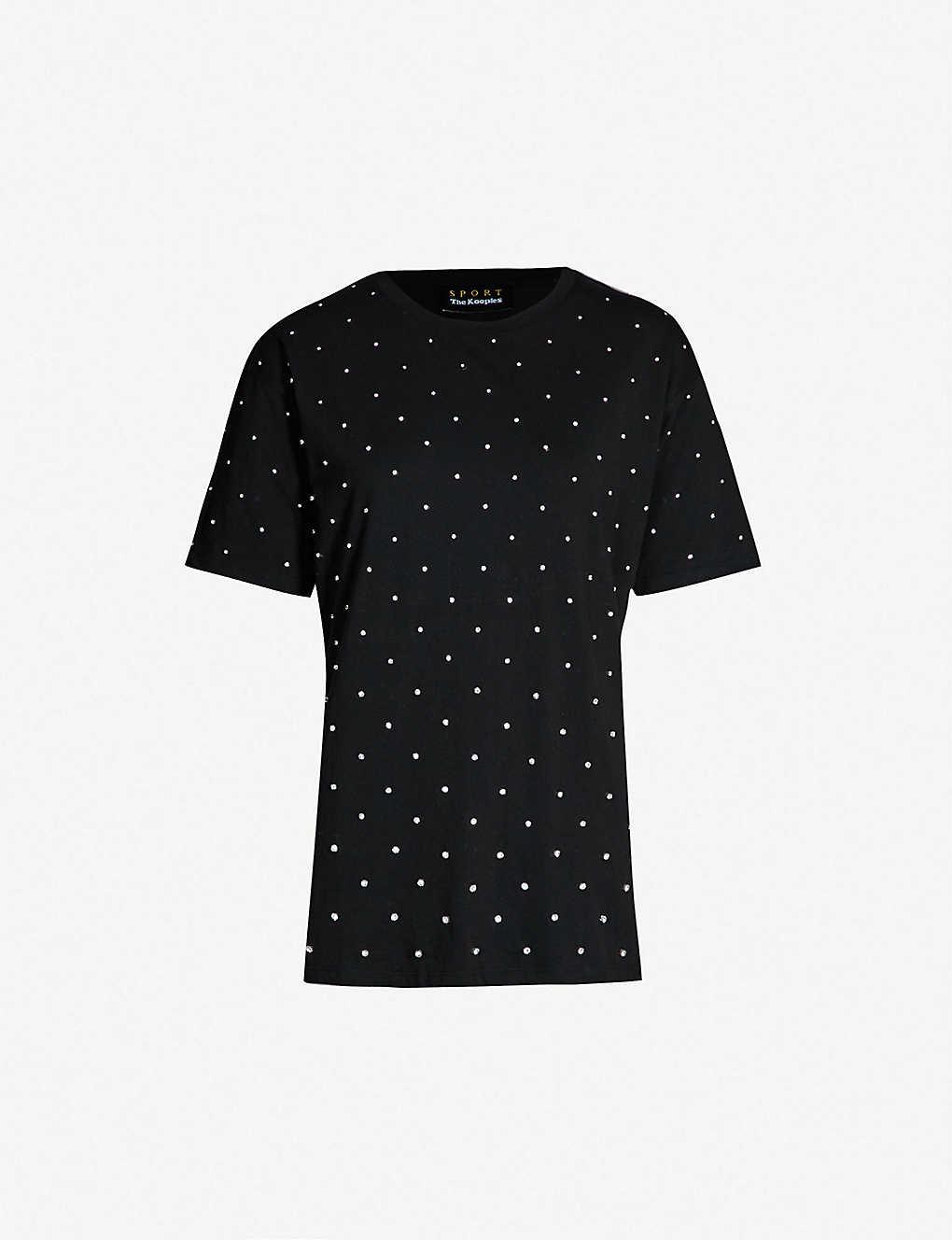 0456eb6ee THE KOOPLES - Rhinestone-embellished cotton-jersey T-shirt ...