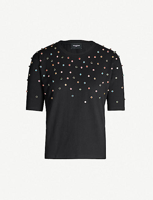 2bb958b2c768 THE KOOPLES Multicolour studs cotton-jersey T-shirt