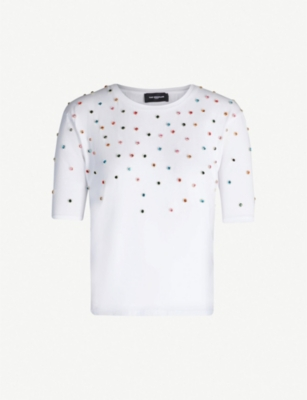 THE KOOPLES Multicolour studs cotton-jersey T-shirt
