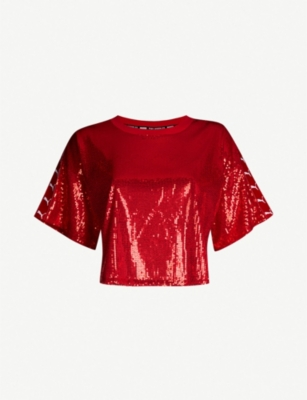 THE KOOPLES The Kooples x PUMA sequinned T-shirt
