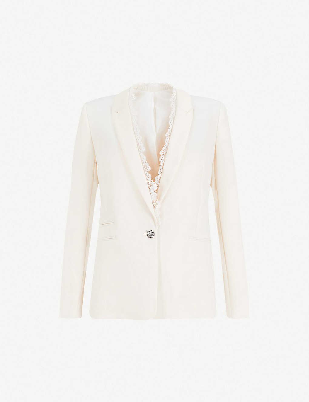 2cbf180b13 THE KOOPLES - Lace-detail crepe blazer | Selfridges.com