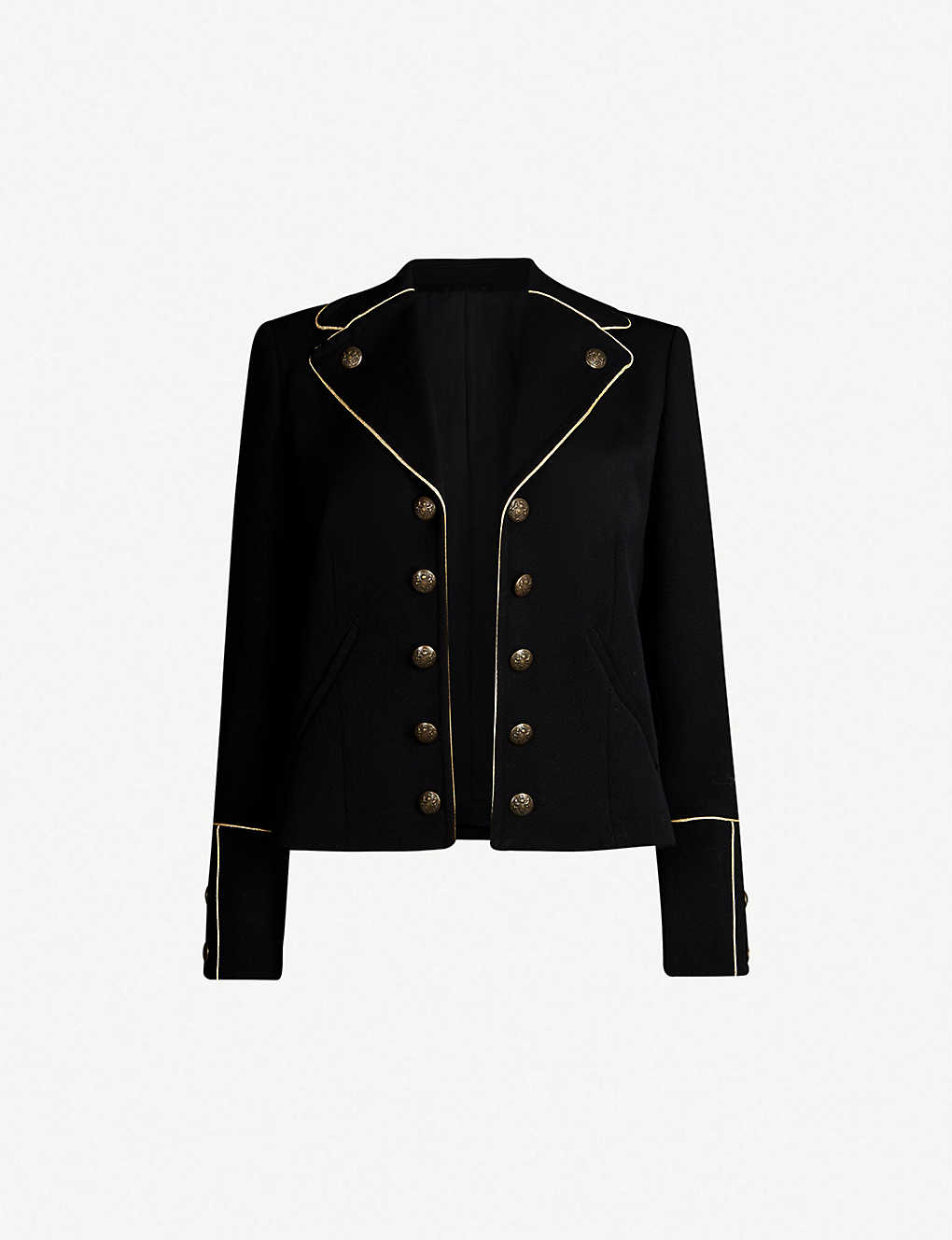 0f1aeaa25f3 THE KOOPLES - Piped-trim woven blazer | Selfridges.com