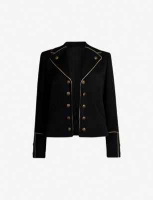 THE KOOPLES Piped-trim woven blazer