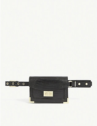 THE KOOPLES: Emily croc-embossed leather belt bag