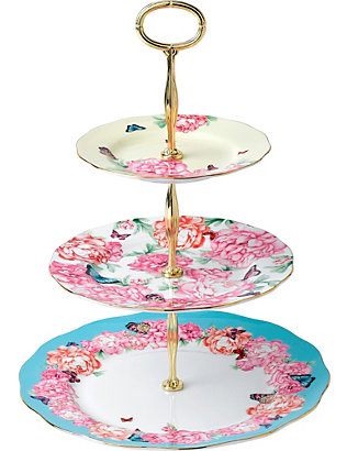 ROYAL ALBERT: Miranda Kerr three-tier bone china cake stand
