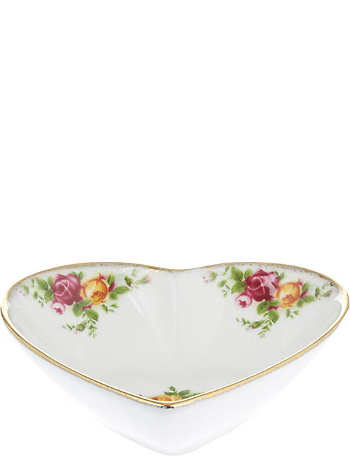ROYAL ALBERT: Old Country Roses Heart tray 13cm