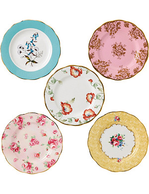ROYAL ALBERT 100 years 5-piece side plate set (1950-1990)