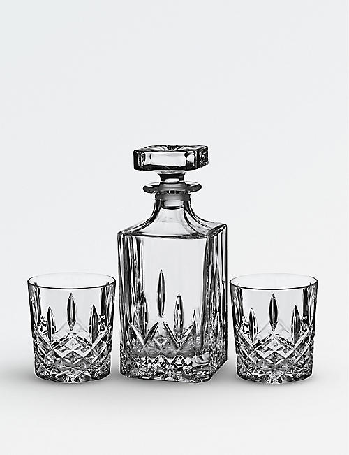 WATERFORD: Marquis Markham crystal decanter and glasses set