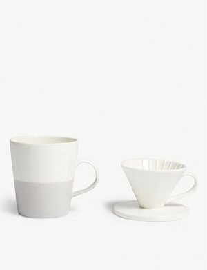 ROYAL DOULTON Porcelain coffee mug and dripper set