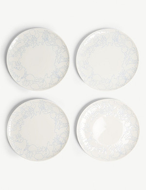 ROYAL DOULTON ED Ellen Degeneres plates set of four