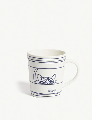 ROYAL DOULTON ED by Ellen Degeneres Cat mug