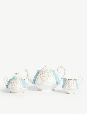 ROYAL ALBERT 100 Years of Royal Albert 1930 Mint Deco teapot set