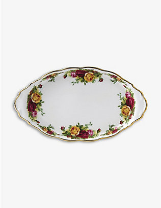 ROYAL ALBERT: Old Country Roses bone china tray