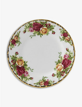 ROYAL ALBERT: Old Country Roses china plate 16cm