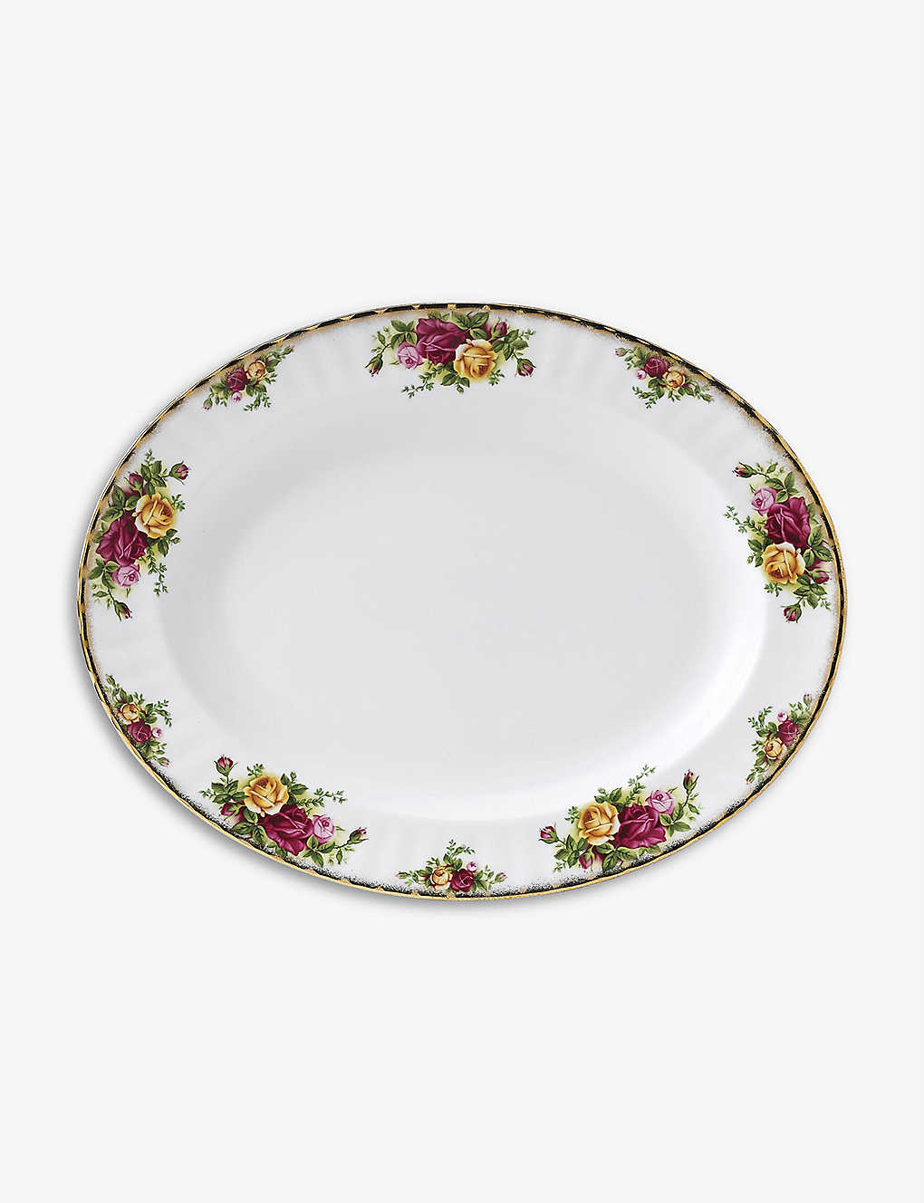 ROYAL ALBERT: Old Country Roses china oval dish 33cm