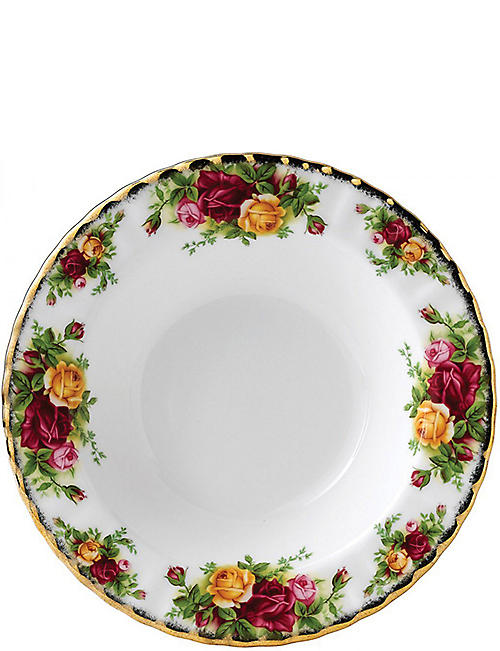 ROYAL ALBERT: Old Country Roses large soup plate