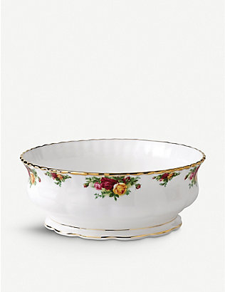 ROYAL ALBERT: Old Country Roses fine bone china salad bowl 28cm