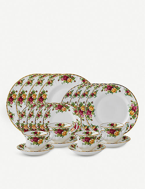 ROYAL ALBERT: Old Country Roses 20 Piece Tea Set