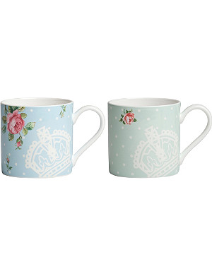 ROYAL ALBERT Polka mugs set of 2