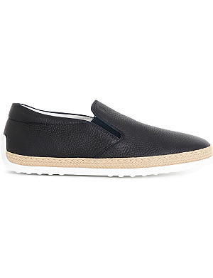TODS Gomma Rafia leather skate shoes