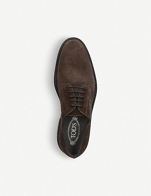 TODS Derby suede shoes