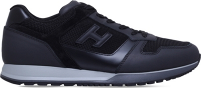 HOGAN H321 leather and mesh trainers