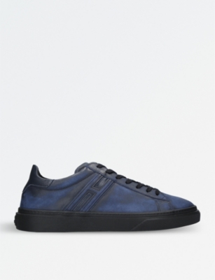 HOGAN H340 washed leather trainers