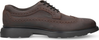 HOGAN H304 New Route suede Derby shoes